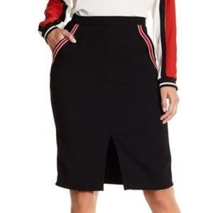 RO & DE Athletic Style Front Slit Pencil Skirt